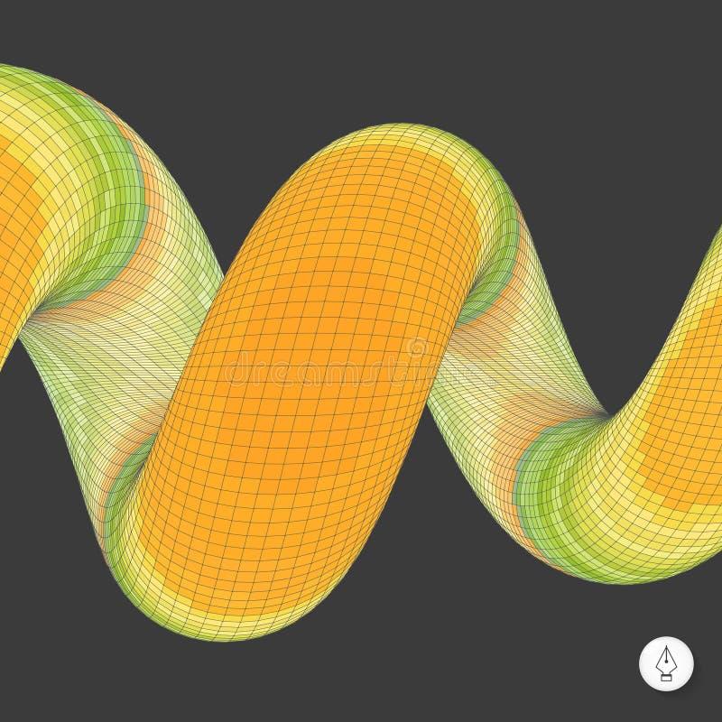 Download Spirala Mozaika 3d Ilustracja Wektor Ilustracja Wektor - Ilustracja złożonej z perspektywa, dekoracyjny: 53785517