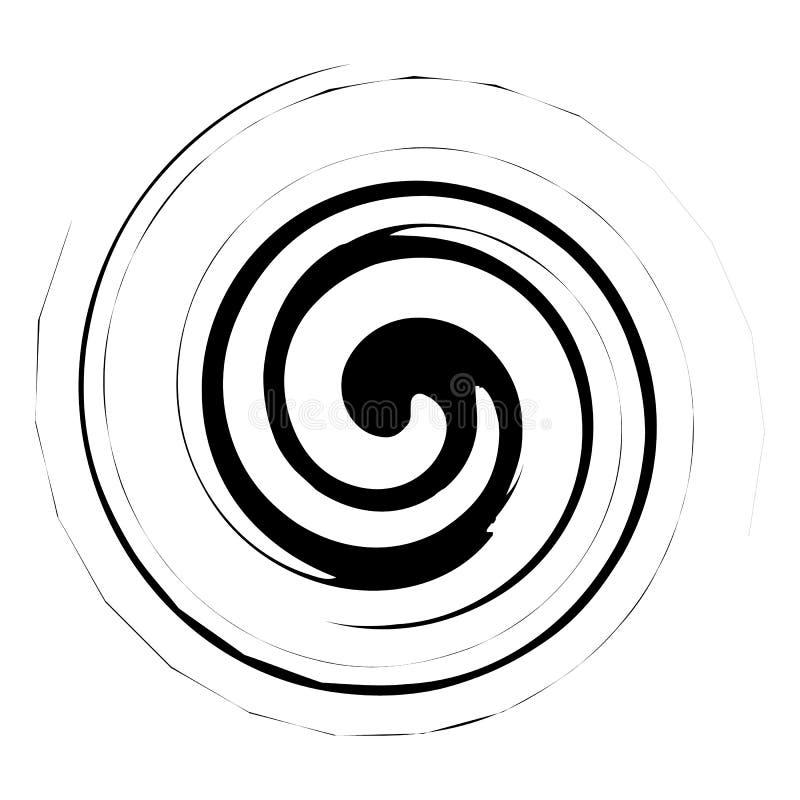 Spirala, twirl ilustracja Abstrakcjonistyczny element z promieniowym stylem a royalty ilustracja