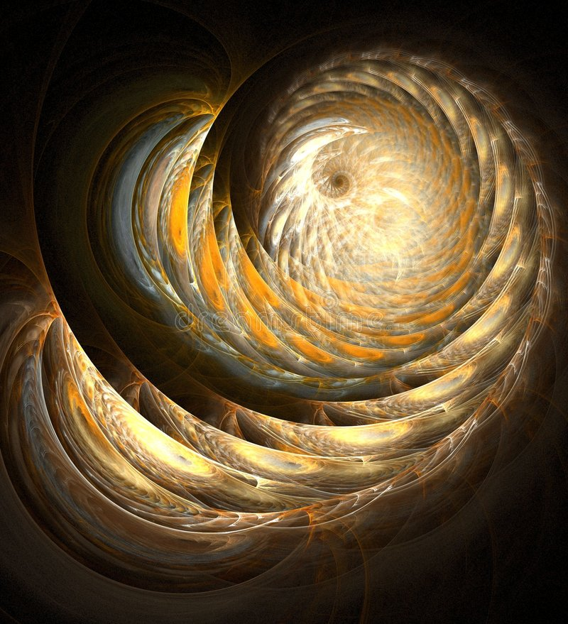 spirala złota ilustracji