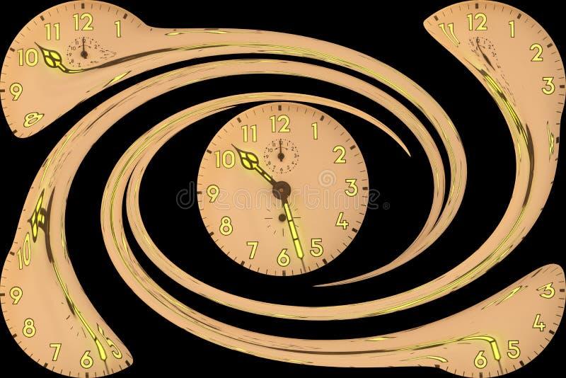 Spirala zegary royalty ilustracja