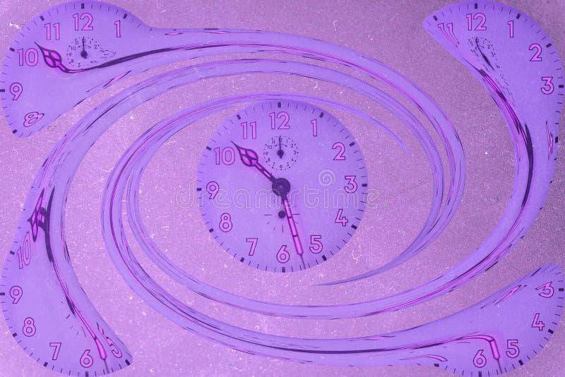 Spirala zegary ilustracja wektor
