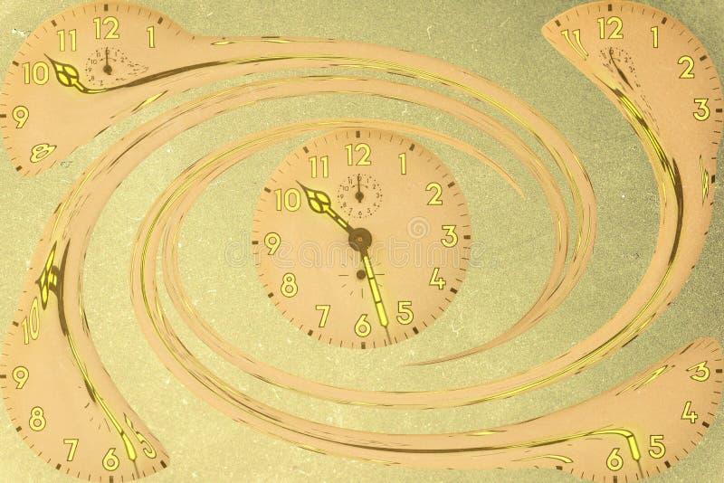 Spirala zegary ilustracji