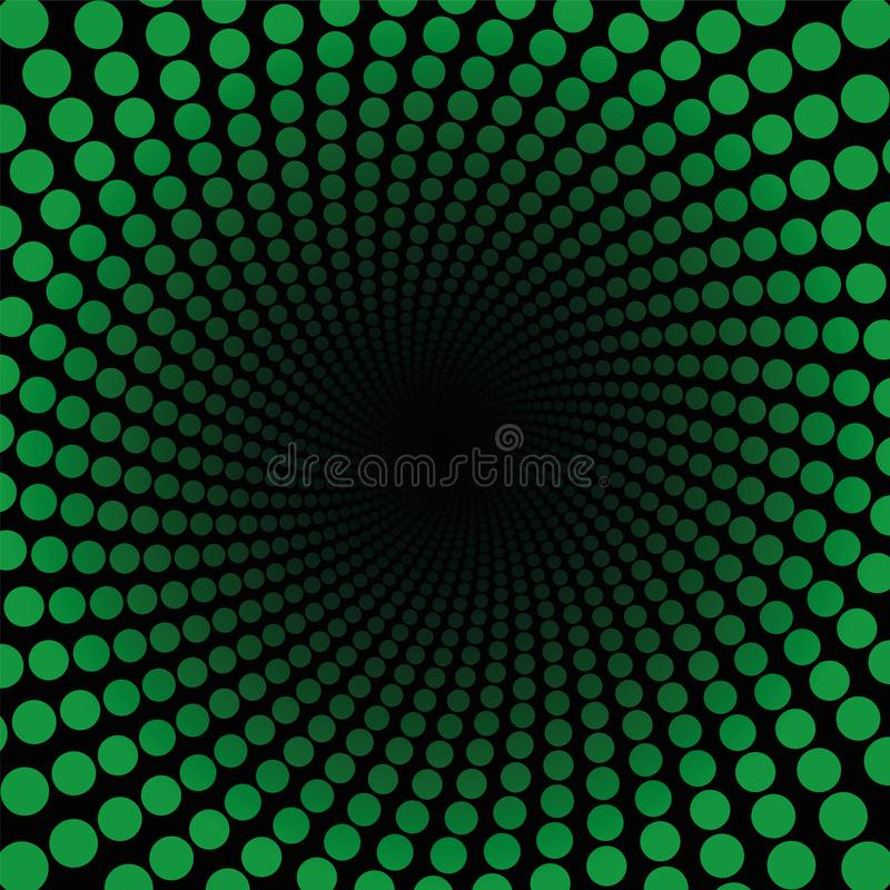 Spirale样式绿色加点黑中心 库存例证