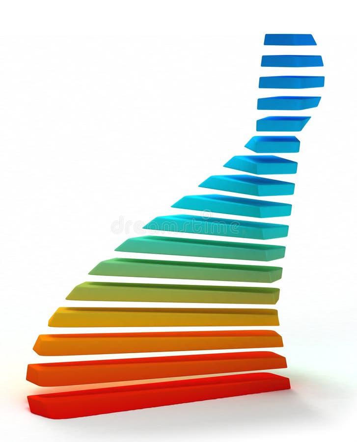 Spirale 3-D variopinta illustrazione di stock