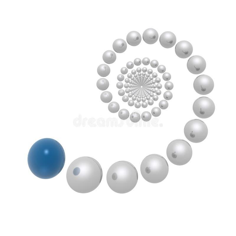 Spirale illustration de vecteur