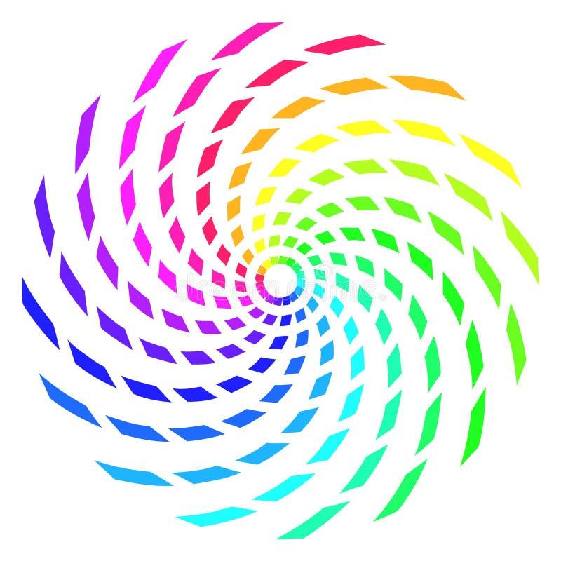 Spirale abstraite d'arc-en-ciel illustration de vecteur