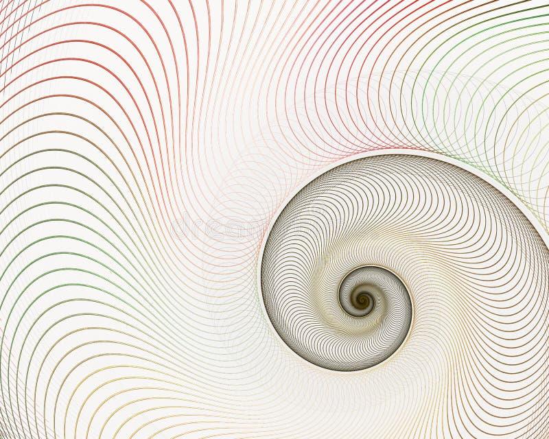 Spirale abstraite de fractale Shell Background illustration libre de droits