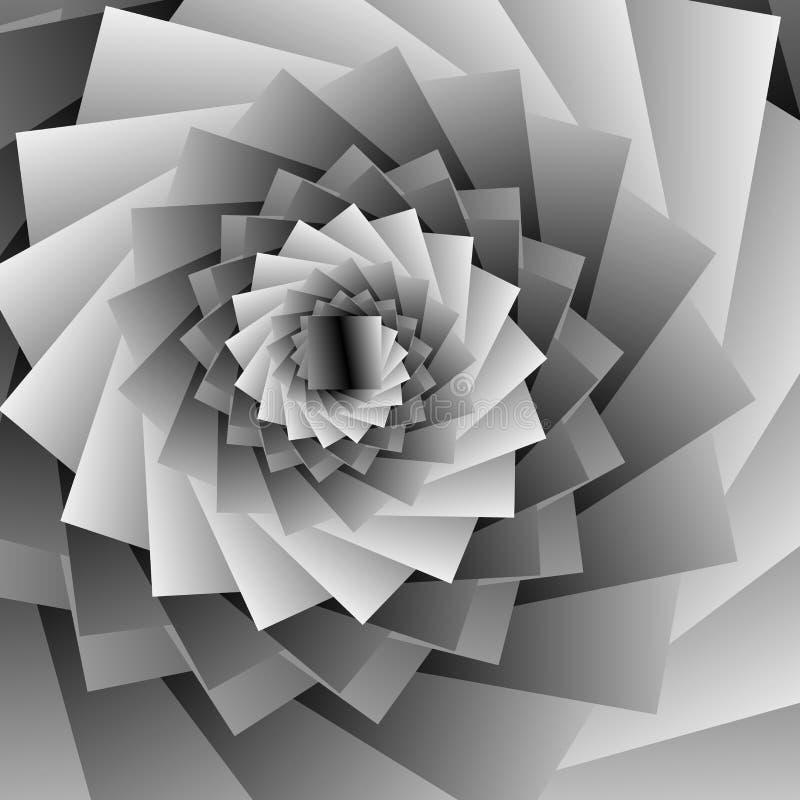 Spirale abstraite, effets de vortex avec des formes concentriques mélangées vers l'intérieur Conception graphique Illustration de illustration stock