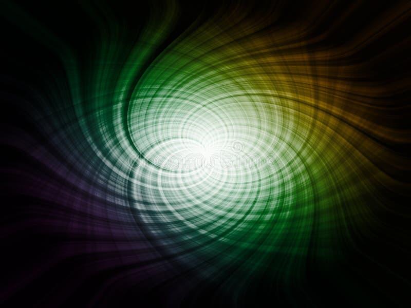 Spirale astratta, elemento futuristico illustrazione di stock