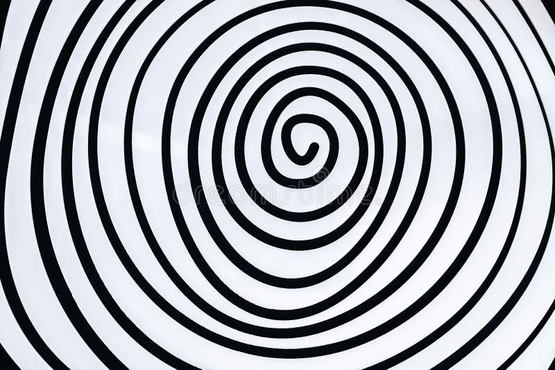 Spirale bianca semplice immagini stock