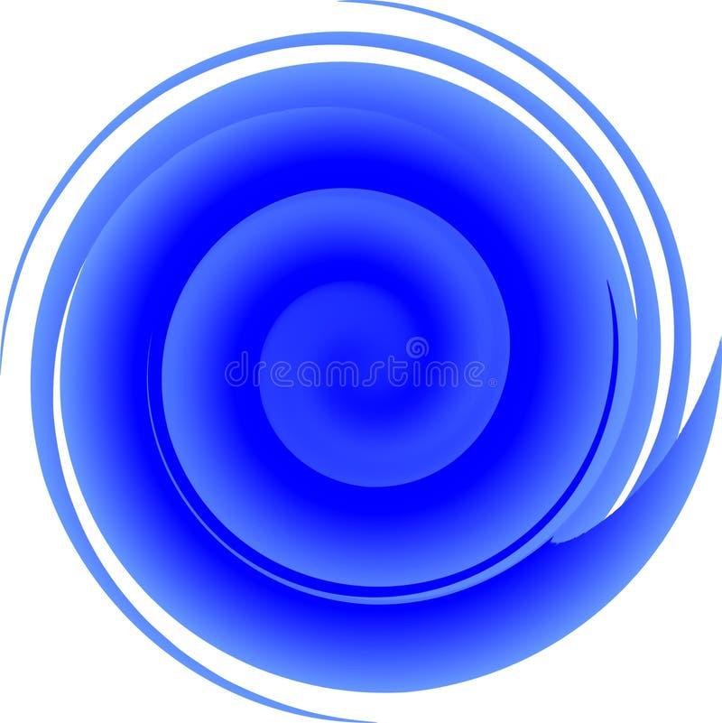 Spirale bleue illustration de vecteur