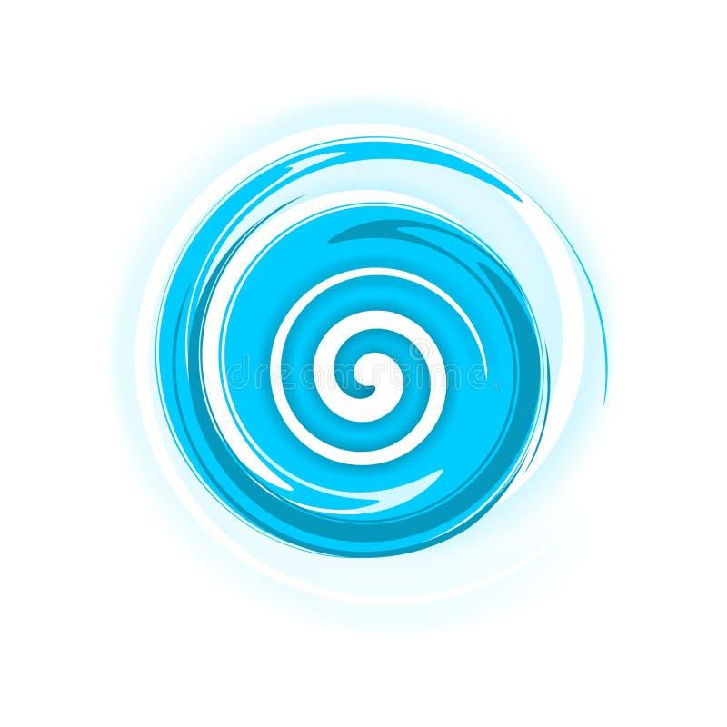 Spirale blu illustrazione di stock