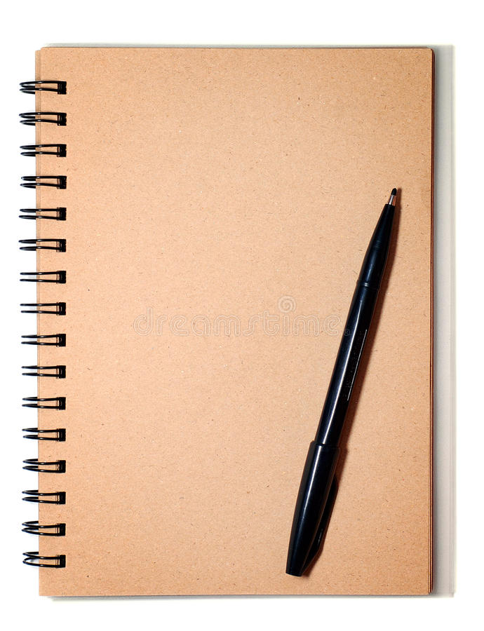 spirale brune noire de crayon lecteur image stock