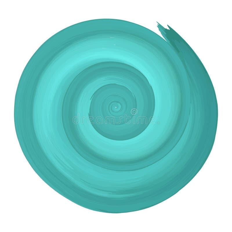 Spirale d'aquarelle de Teal illustration libre de droits
