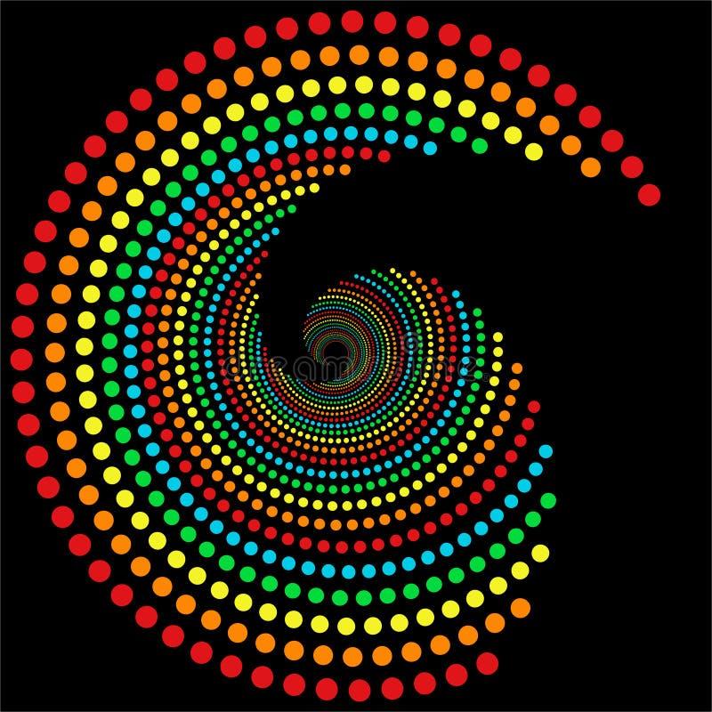 spirale d'arc-en-ciel de 2 points illustration stock