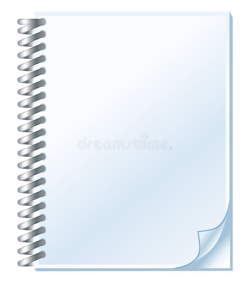 spirale de cahier illustration de vecteur