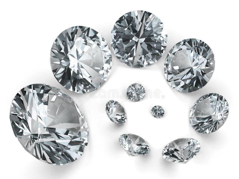 Spirale de différents diamants illustration de vecteur
