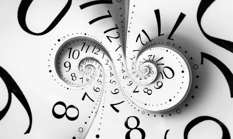 Spirale de double temps d'infini illustration libre de droits