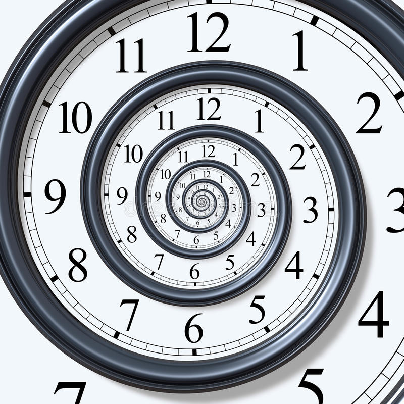 Spirale de temps illustration libre de droits