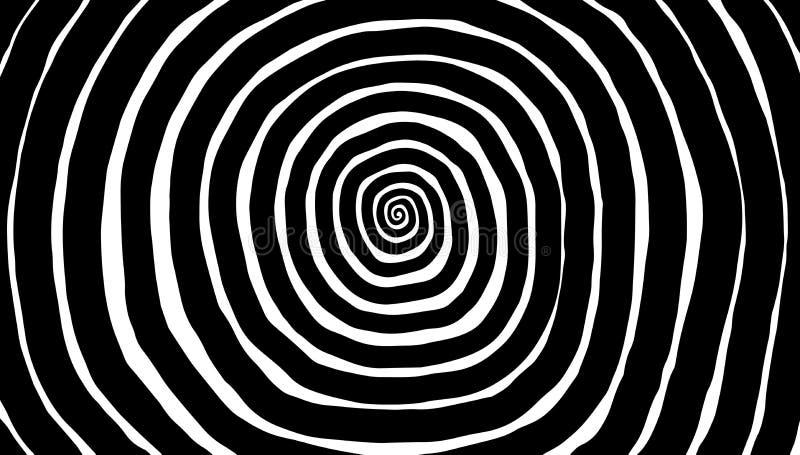 Spirale de vecteur, fond Vortex hypnotique et dynamique illustration stock