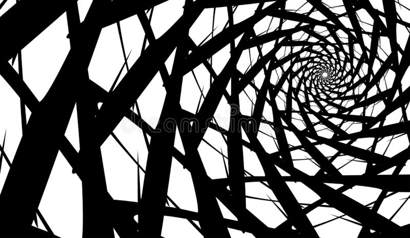 Spirale de vecteur sur le fond blanc Effet d'hypnose, modèle abstrait illustration de vecteur