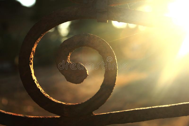 Spirale del ferro fotografie stock libere da diritti
