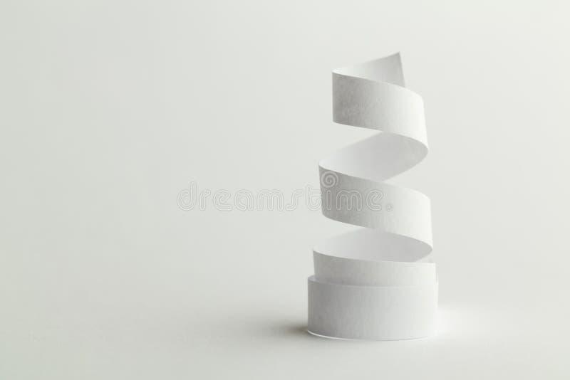Spirale del Libro Bianco fotografie stock