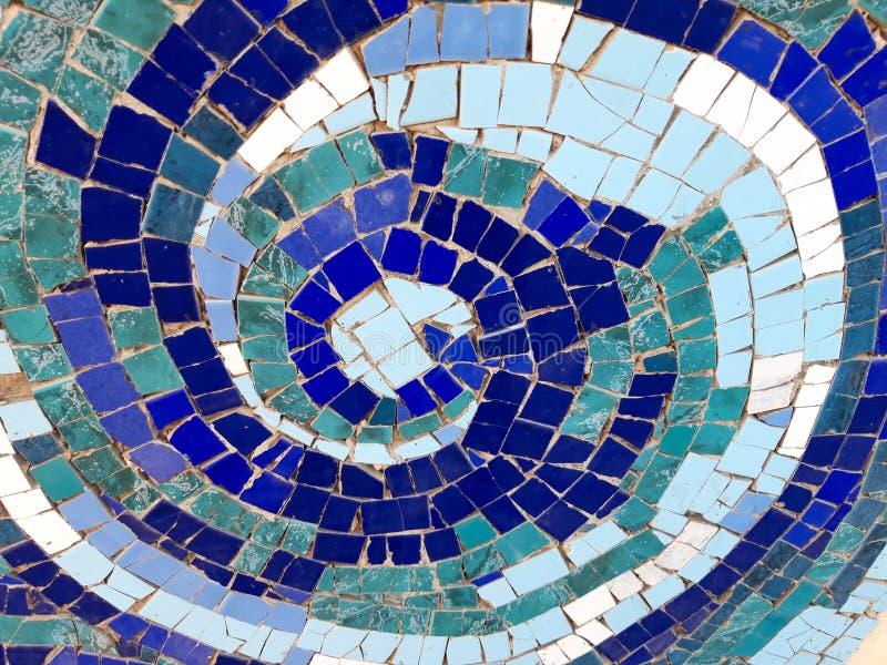 Spirale del mosaico immagine stock