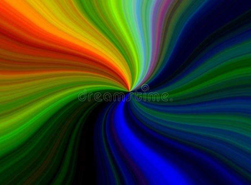 Spirale del Rainbow illustrazione di stock