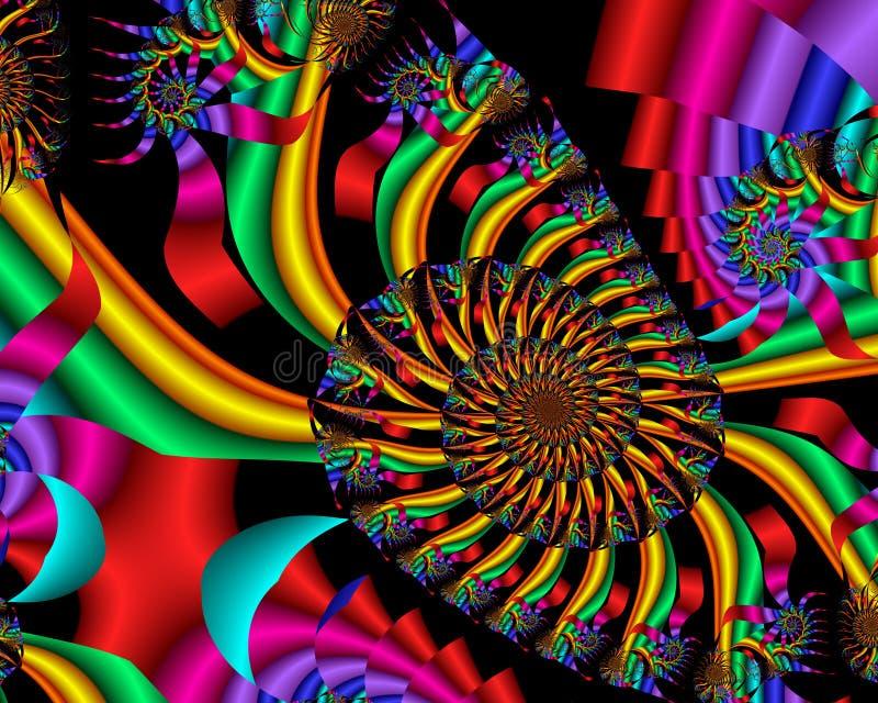 Spirale del Rainbow royalty illustrazione gratis