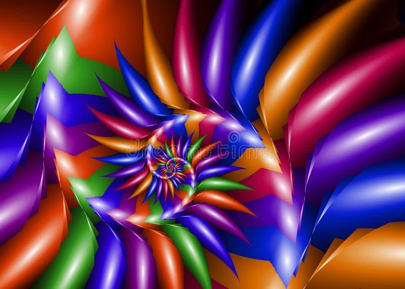 Spirale del Rainbow illustrazione vettoriale
