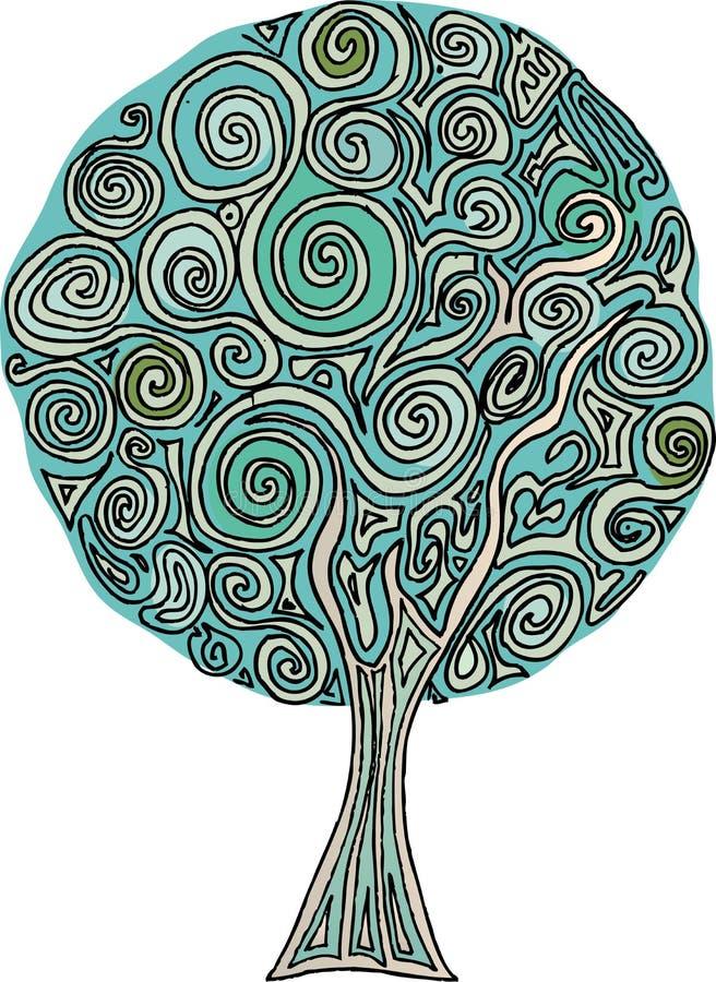 Spirale dell'albero illustrazione vettoriale
