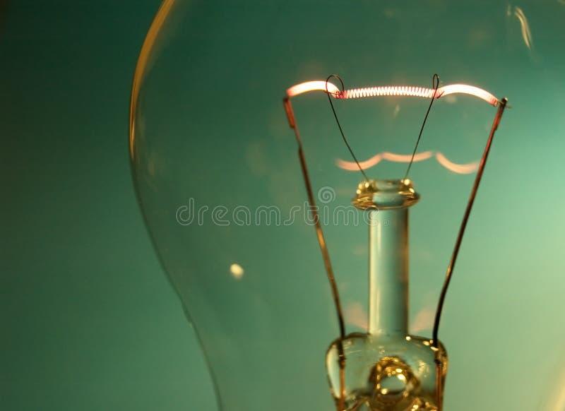 Spirale della lampada del tungsteno fotografie stock libere da diritti