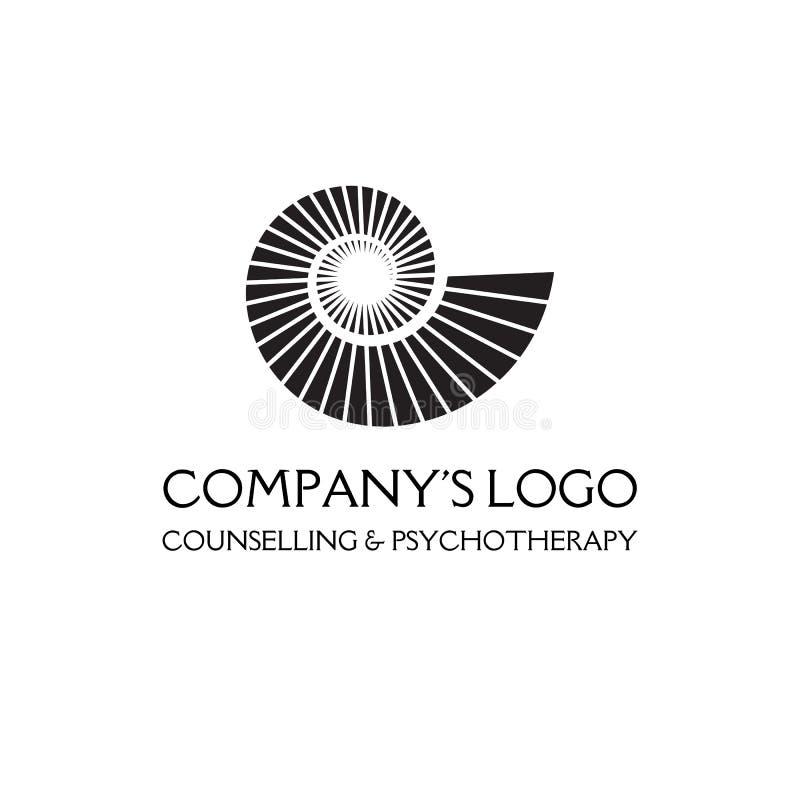 Spirale di logo, coperture - un simbolo di sviluppo, chiarimento e saggezza illustrazione di stock