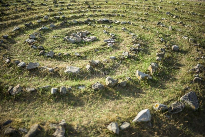 Spirale di pietra immagine stock