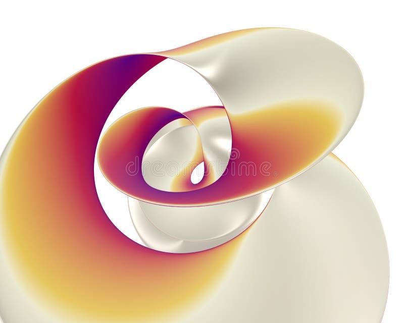 Spirale di plastica giallo arancione - lucidi e riflessione dell'onda royalty illustrazione gratis