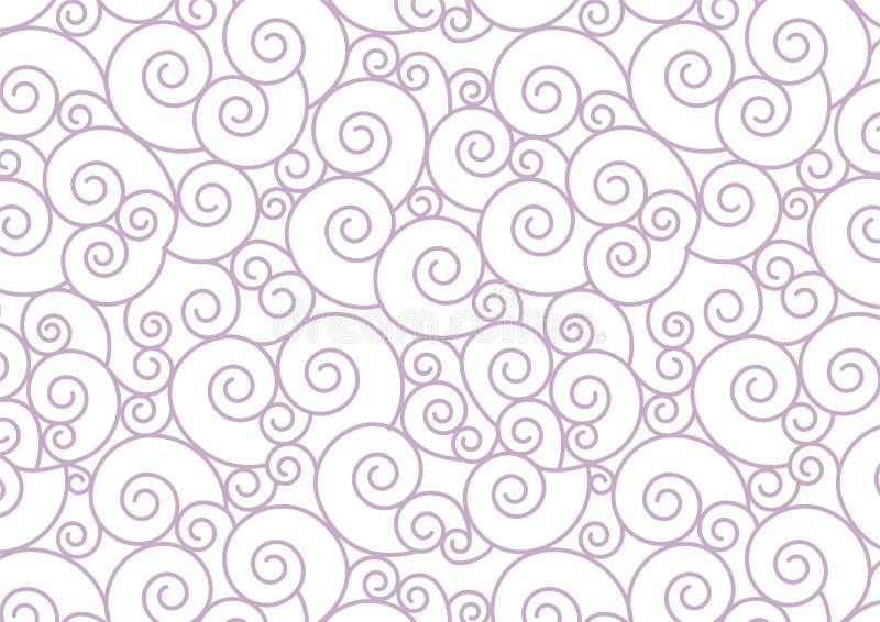 Spirale en pastel pourpre sur le fond blanc de vecteur illustration de vecteur