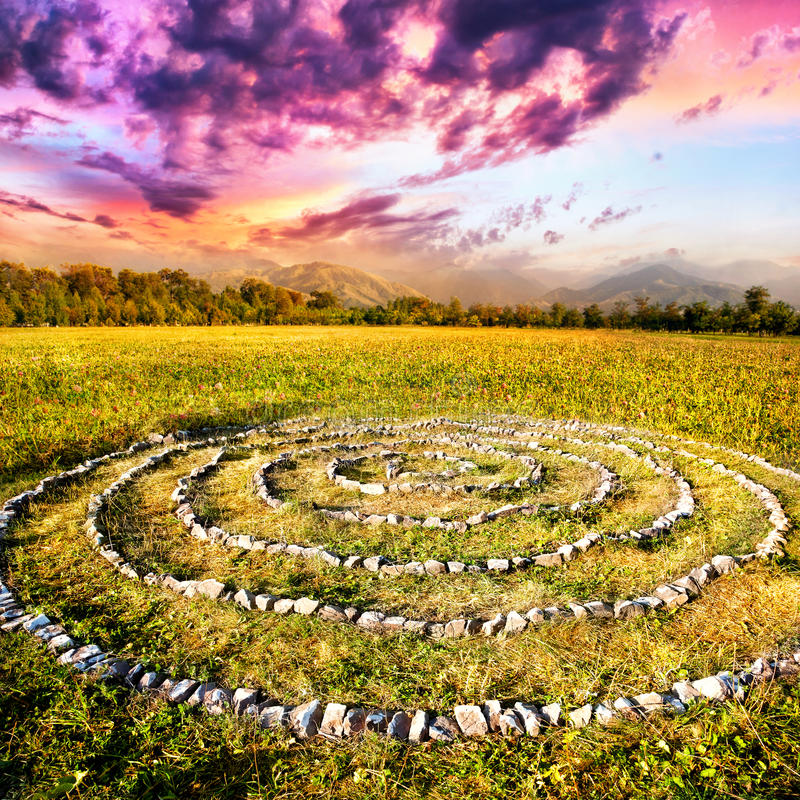 Spirale en pierre photographie stock libre de droits