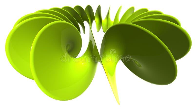 Spirale en plastique verte illustration stock