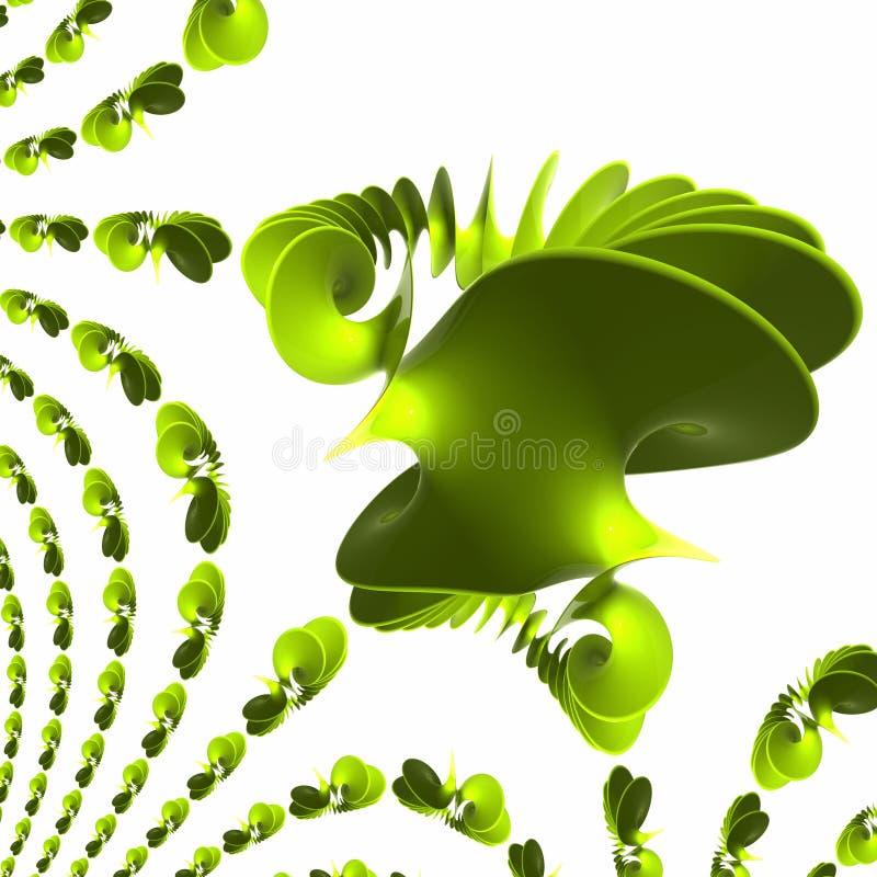 Spirale en plastique verte - polis et se refléter d'onde illustration stock