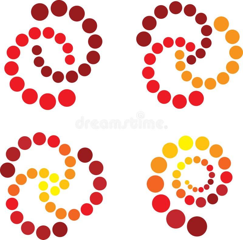 Spirale en rouge et le jaune illustration de vecteur