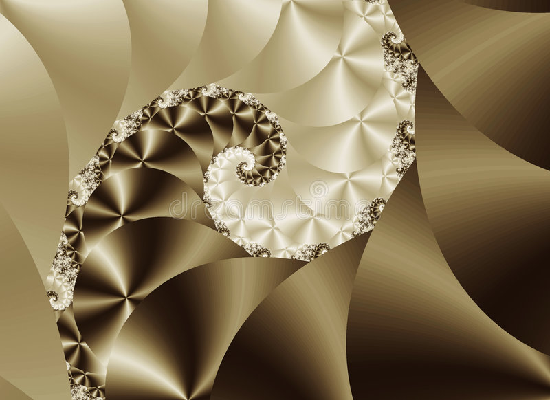 Spirale en soie illustration stock