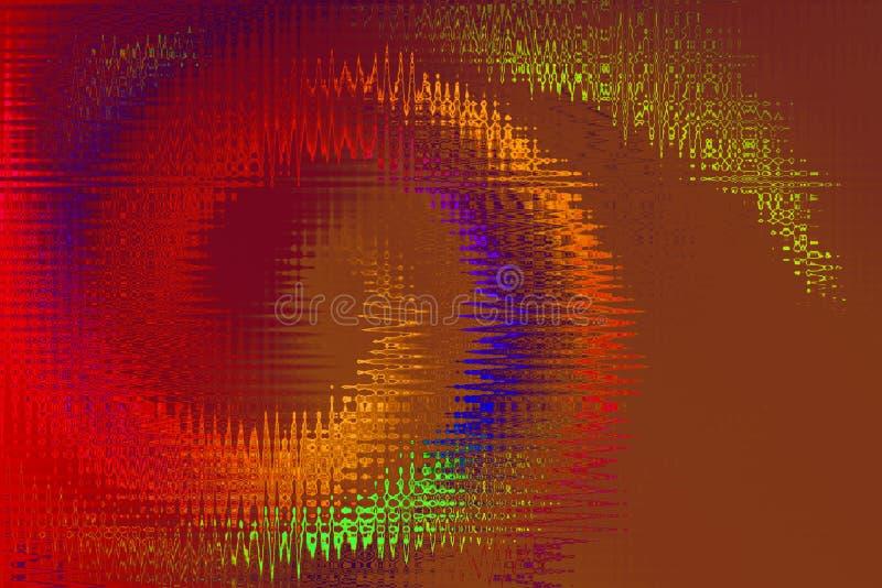 Spirale girante circolare dell'estratto variopinto di spirale illustrazione di stock