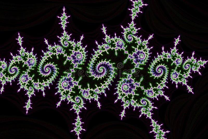 Spirale i wyginać się smugi fractal abstrakta tło ilustracji