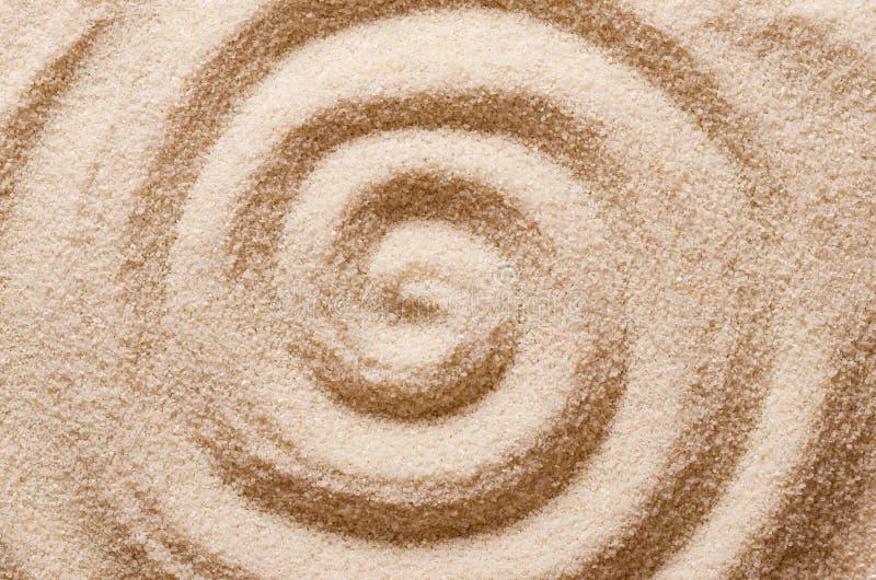 Spirale nella foto di macro della sabbia immagine stock libera da diritti