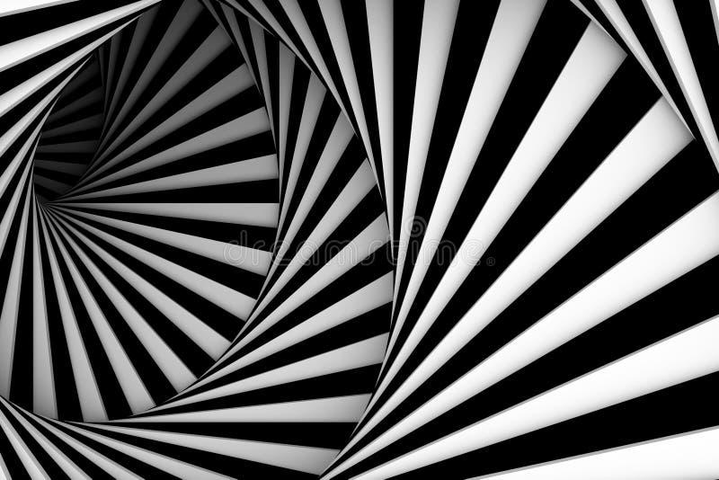 Spirale noire et blanche illustration stock