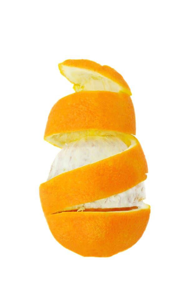 Spirale orange image libre de droits