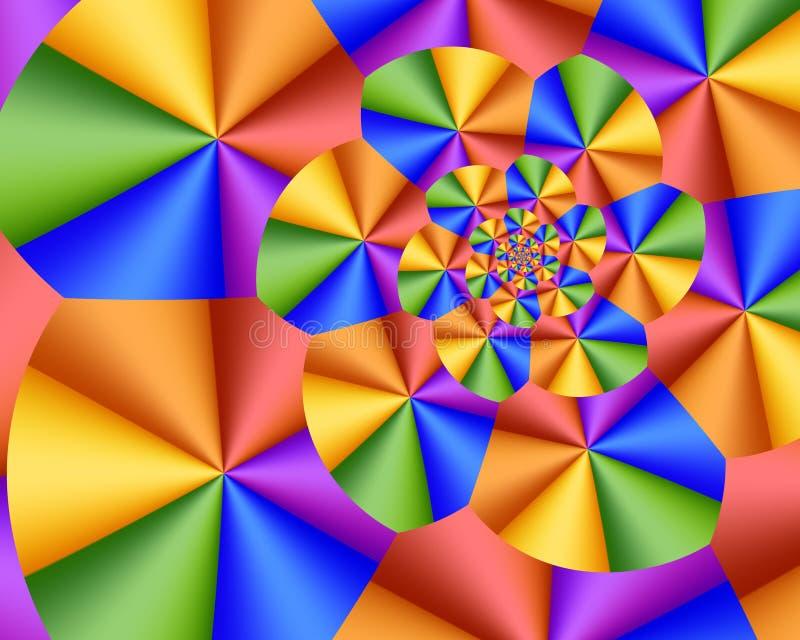 Spirale pastello illustrazione di stock