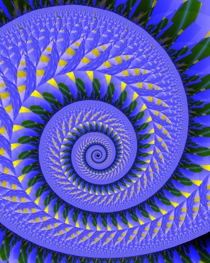 Spirale piquée illustration stock