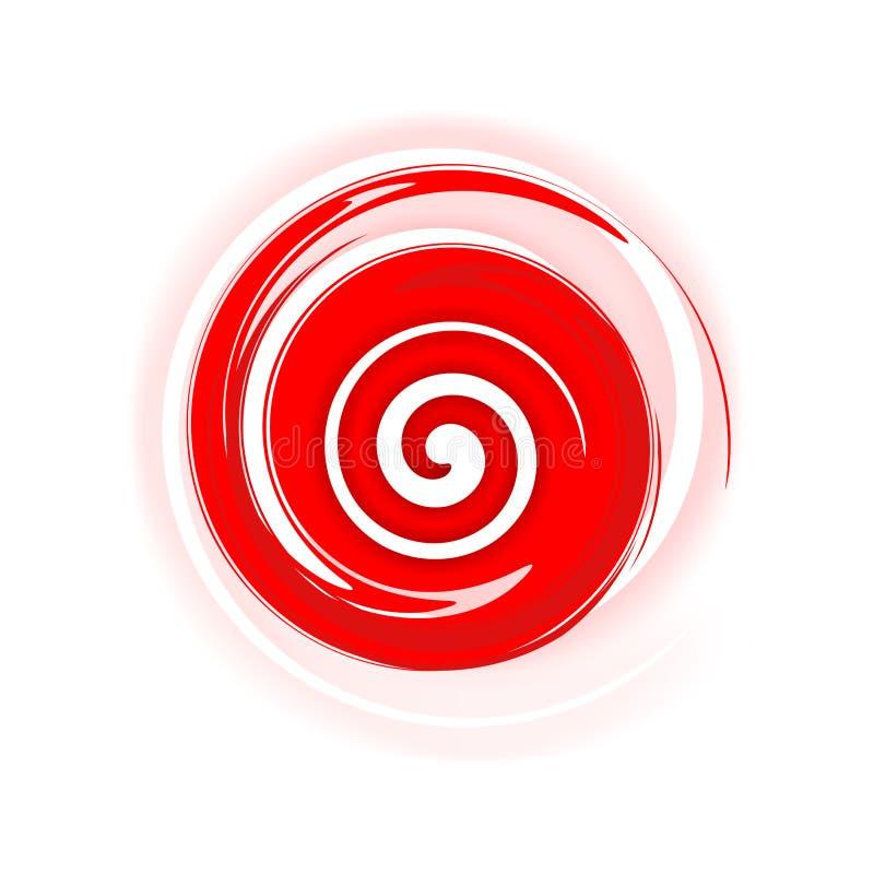 Spirale rossa royalty illustrazione gratis